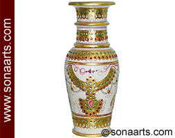 Exquisite jewelry painting on Marble Pot