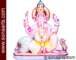 Lord Ganesh Murti from Marble Stone