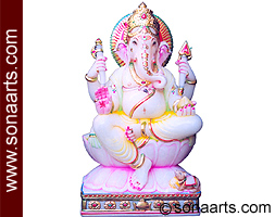 Exquisite Ganesha Statue from makrana marble