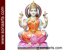 Beautiful Goddess Laxmi ji from Marble for temple