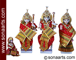 Beautiful Ram Darbar Statue from White Marble