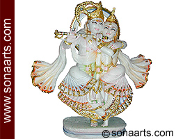 Radha krishna statue in dancing position