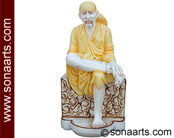 Sai Baba Statue from Spotless White Marble