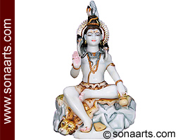 Marble Shankar Statue for temple