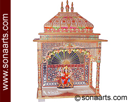 Marble temple designs home temple design in marble stone for Home mandir designs marble